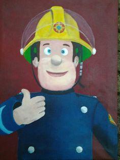 Brandweerman Sam geschilderd