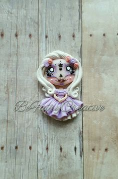 Sugar Skull Beauty Polymer Clay Creations, Polymer Clay Jewelry, Fun Crafts, Diy And Crafts, Halloween Clay, Play Doh, Clay Charms, Cold Porcelain, Clay Ideas