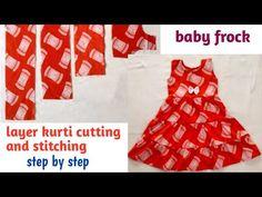 Baby Frocks Designs, Frock Design, No Frills, Kurti, Stitching, Layers, Two Piece Skirt Set, Youtube, Dresses