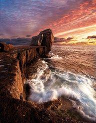 Pulpit Rock, Isle of Portland, Dorset, England.