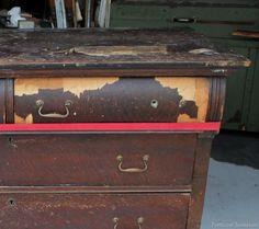 peeling veneer on vintage furniture petticoat junktion
