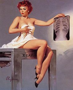 """Gil Elvgren - """"Inside Story"""" (Over Exposure) 1959 [379]"""