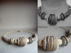 Combined leftovers ;-) by Klavdija's corner, via Flickr  Polymer clay necklace