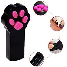 Cat Catch the Interactive LED Light Pointer Paw Style Cat Toys Red Pot Exercise Chaser Toy Pet Scratching Training Tool By Ruris Black ** Check this awesome product by going to the link at the image.