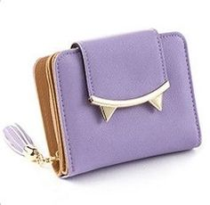 Adorable Cat Anime Leather Trifold Slim Mini Wallet - 5 Colors