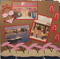 cruise scrapbook layout