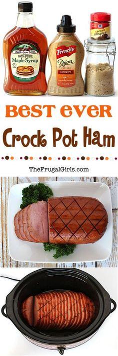 Best Crock Pot Ham Recipe from TheFrugalGirls.com