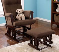 Nursery Rocking Chair For Baby Relax Rocker Glider And Ottoman Set Nursing Mum #BabyRelax