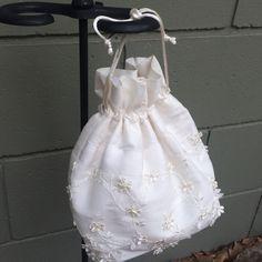 Wedding Purse, Bridal Money Bag, Emergency Bridal Bag, Girls 1st Communion Purse, Wedding Accessory by CZsINSPIRATIONS on Etsy