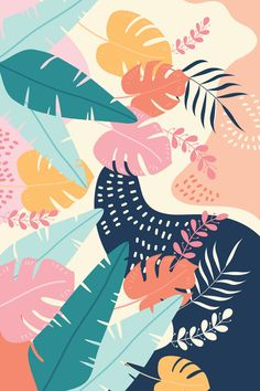 LuckyPosters is full of original and iconic wall art prints. We design and print every item that you buy from us. Botanical Wall Art, Floral Wall Art, Poster Photo, Art Watercolor, Pattern Illustration, Digital Illustration, Pattern Art, Jungle Pattern, Mural Art