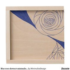 Blue rose abstract minimalist small keepsake box  A tiny keepsake box made of natural birch wood is awaiting for you to store your most cherished memories: old printed photos, CDs since childhood, heirloom jewelry, your first diary, you name it! You could even turn it into a time capsule and open it in 10-20-30 years in the future! Copyright © 2017, Anca Ioviţă #minimalistdesign #minimalistdesigner #zazzle #blue #rose #minimalist #minimalism #keepsake #box #timecapsule