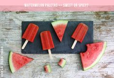 karla diaz cano shares the recipe for mexican watermelon paletas, either the sweet or the spicy version.