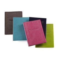 Personalized Leather Passport Holder. A great gift for your entire wedding party or for the bride and groom off to an exotic honeymoon.  #wedding #party #groomsmen #bridesmaid #gift #registry #travel $55