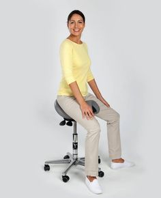Standing all day (as recently recommended by some organisations!), has serious comfort and health issues. The Bambach Saddle Seat positions your spine in its optimal, healthy, natural, 'S' shape - like when standing, while letting you sit in extreme comfort all day long, without any of the health risks associated with sitting. Visit www.bambach.co.uk Sciatica, Back Pain, Normcore, Shape, Natural, Healthy, Fashion, Furniture, Organizations
