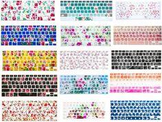 HRH For macbook keyboard cover Flowers Silicone Keyboard Cover Skin For Macbook Pro 13 15 17 Air 13 Retina 13 USA Layout Best Macbook, Macbook Pro 13, Macbook Air, Macbook Keyboard Cover, Computer Case, Apple Mac, Flower Designs, Geek Stuff, Dreams
