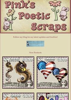 Ad:New Patriotic & Steampunk Scripts,40% Off Sale, & BT Freebies by Pink's Poetic Scraps! http://mad.ly/4c9473