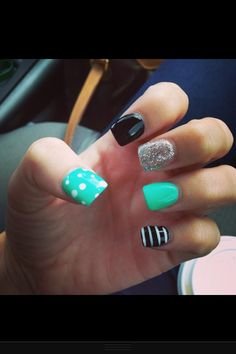 Mix and match these designs with your favorite color or try doing them all different colors...