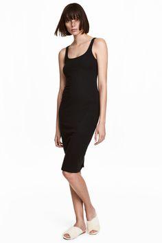 Sleeveless jersey dress - Black - Ladies | H&M GB