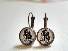 Cabochon Brisuren ♥ romantisches Paar♥ 12 mm. von Luisa Ventocilla Shop auf DaWanda.com