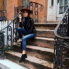 The Kooples leather biker jacket by Christina Caradona >> www.thekooples.com/en/women-1/short-jacket/biker-jacket-in-lambskin-leather-1.html