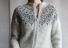 Ravelry: Telja pattern by Jennifer Steingass Fair Isle Knitting Patterns, Jumper Patterns, Vest Pattern, Knit Patterns, Norwegian Knitting, Nordic Sweater, Icelandic Sweaters, I Cord, Knit In The Round
