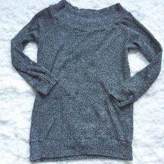 Long Gray Knit top long sweater top  , long sleeves Tops