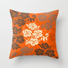 Floral Pattern #2 Throw Pillow by Ornaart - $20.00