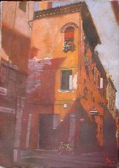 Bernie Fuchs - 'Courtyard Shadows' - Telluride Gallery of Fine Art
