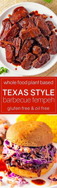 Style Barbecue Tempeh AMAZING and delicious Texas Style Barbecue Tempeh! Super simple and tons of yummy flavor!AMAZING and delicious Texas Style Barbecue Tempeh! Super simple and tons of yummy flavor! Plant Based Recipes, Veggie Recipes, Whole Food Recipes, Vegetarian Recipes, Healthy Recipes, Vegetarian Barbecue, Vegan Vegetarian, Tempeh, Tofu