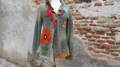 Bohemian Art To Wear Gipsy Boho Felted Flower Lace by avacolour