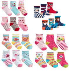 3 pack Baby Girls Socks Boys Cotton Rich Kids Childrens Newborn - 24 months