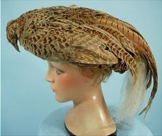 This hat has sold, but a brilliant example of how mad we were in 1906 for excentric hats, maybe the first owner was the Lady GaGa of the 1900's