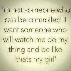 Not to be controlled