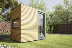 Micro Pod Garden Studio, measuring x and x respectively. Specifically designed as the ideal solution for homeworkers, their compact design means they will fit unobtrusively into most gardens. Outdoor Office, Backyard Office, Garden Office, Outdoor Living, Outdoor Rooms, Facade Design, Architecture Design, Larch Cladding, Office Pods