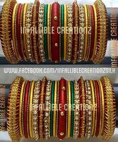 Silk Thread Bangles, Thread Jewellery, Bangle Set, Bangle Bracelets, Hand Jewelry, Handmade Jewelry, Chuda Bangles, Black Diamond Wedding Rings, Pakistani Jewelry