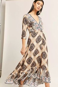 Product Name:Selfie Leslie Abstract Print Maxi Dress, Category:dress, Price:58