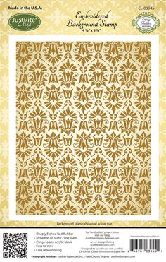 CL-03945_Embroidered_Background_Cling_LG  from just right papercraft site