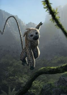 This funny-looking creature looks like a leopard crossed with a monkey. Alien Creatures, Mythical Creatures Art, Mythological Creatures, Cute Creatures, Magical Creatures, Alien Concept Art, Creature Concept Art, Creature Design, Fantasy Monster