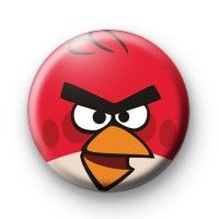 Angry Birds Red Button Badges  Button Badges £0.85