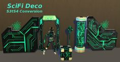 Leander Belgraves - SciFi Deco converted from Sims 3 to Sims 4...