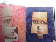 ...faces...cubism...women...magazine cutting GS