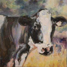 """Farm Girl"" - Original Fine Art for Sale - © by Carol  DeMumbrum"
