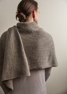 Our Elementary Wrap knitting pattern uses stockinette stitch to keep your keep your hands moving when you just want to knit.