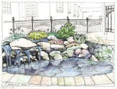 Work from Morozova Lada. Landscape architect from Moscow, Russia. http://landarchs.com/category/sketchy-saturday/