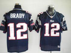$25.00 Reebok NFL Jersey New England Patriots Tom Brady #12 Navy Blue