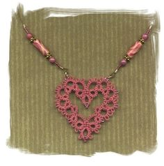 Tatted Heart Necklace: