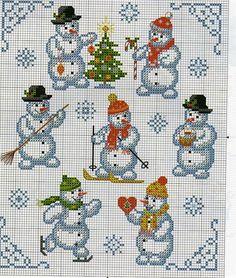 "Photo from album ""Point de croix. Christmas Charts, Cross Stitch Christmas Ornaments, Xmas Cross Stitch, Christmas Embroidery, Christmas Cross, Counted Cross Stitch Patterns, Cross Stitch Charts, Cross Stitch Designs, Cross Stitching"