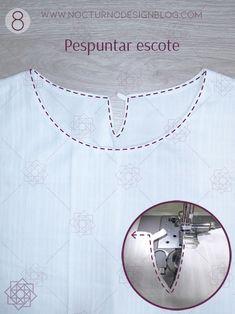 Blusa con puños en gola + molde gratis – Nocturno Design Blog Design Blog, Brother, Sewing, Decor, Templates, Outfits, Home, Vestidos, Shirt Sewing Patterns