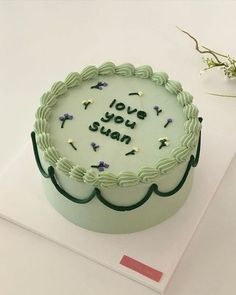 Pretty Birthday Cakes, Pretty Cakes, Beautiful Cakes, Simple Cake Designs, Pastel Cakes, Frog Cakes, Pinterest Cake, Think Food, Cute Desserts