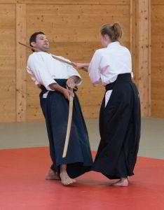 Fotos vom Aikido Verbandslehrgang im Budokan Wels am 13. und 14. Mai 2017. Im Rahmen dieses Lehrgangs legten 5 Vereinsmitglieder erfolgreich Ihre Danprüfungen ab: TachiTaiTachi bei der Danprüfung